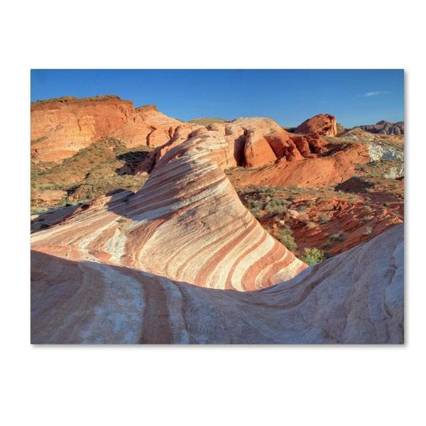 Pierre Leclerc 'Valley of Fire Wave' Canvas Art