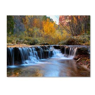 Pierre Leclerc 'Zion Autumn' Canvas Art