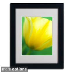 Kathy Yates 'Hint of a Tulip' Framed Matted Art