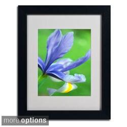 Kathy Yates 'Spring Iris' Framed Matted Art