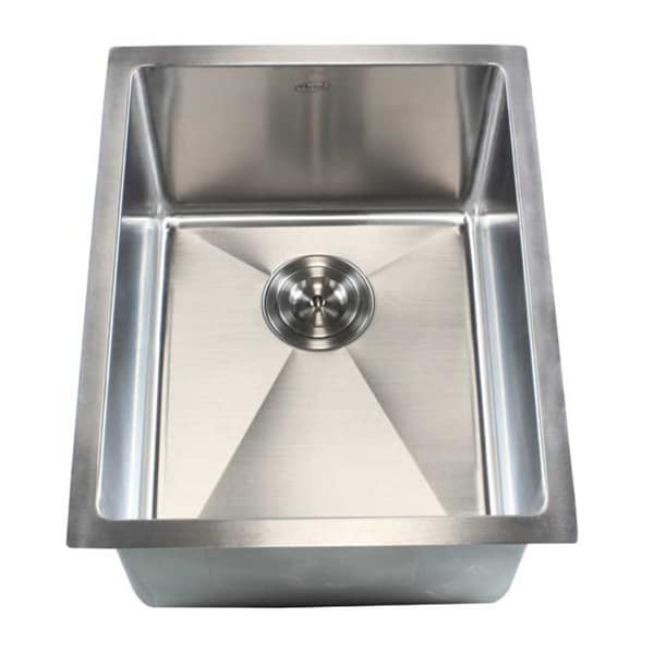 "16"" Undermount Stainless Steel Kitchen Bar Sink 15mm Radius - 15558655 ..."