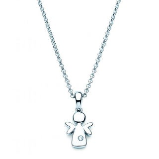 Little Diva Diamonds Sterling Silver Children's Angel Necklace