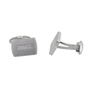 Stainless Steel Embossed Cuff Links