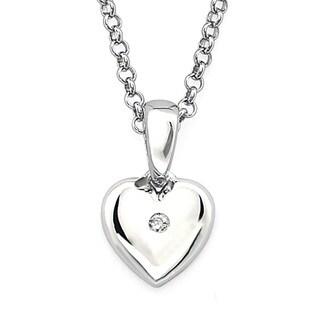 Little Diva Diamonds Silver Children's Diamond Accent Heart Necklace