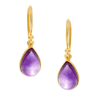 Goldplated Amethyst Earrings (India)