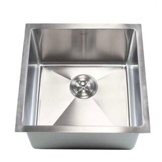 """18"""" Undermount Stainless Steel Kitchen Bar Sink 15mm"""