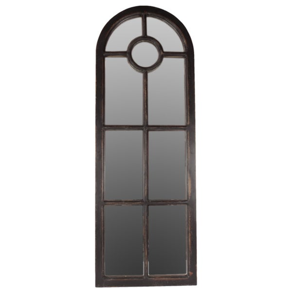 Urban Trends Collection Black Wooden Wall Decor Mirror