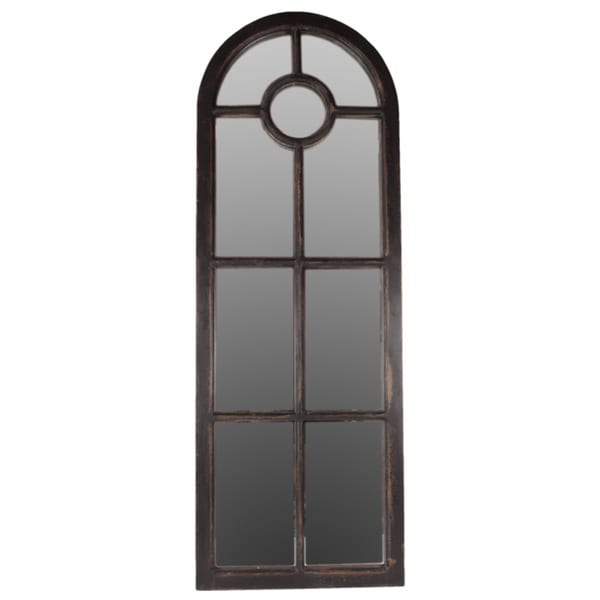 Urban trends collection black wooden wall decor mirror - Home decor wall mirrors collection ...