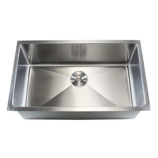 Stainless Steel Undermount Single Bowl Kitchen Sink 15mm