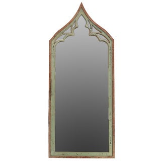 Urban Trends Collection Weathered Green/ Brown Wooden Mirror