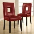 Lillian Bi-cast Leather Dinning Chairs (set of 2)