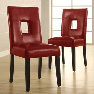 Lillian Bi-cast Leather Dinning Chairs (set of 2)