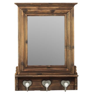 Urban Trends Collection Dark Brown Wooden Wall Cabinet Mirror