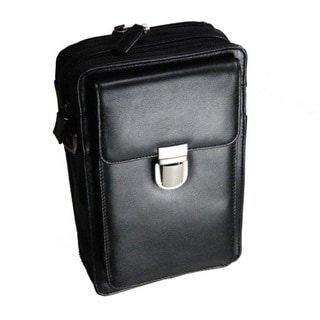 Castello Leather Top Zip Bag