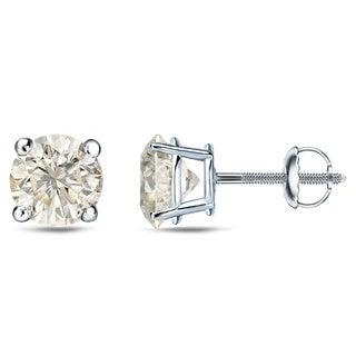 Auriya Platinum 1/4 Ct to 3/4 Ct TDW Round Diamond Stud Earrings (J-K, I1-I2)