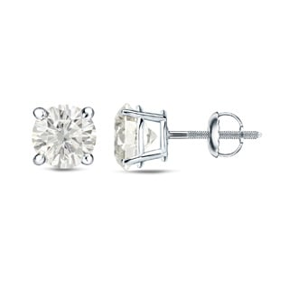 Auriya Platinum 1/4 Ct to 3/4 Ct TDW Round Diamond Stud Earrings (H-I, SI1-SI2)