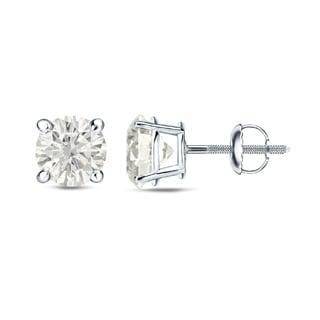Auriya Platinum 1/4 Ct to 3/4 Ct TDW Round Diamond Stud Earrings (H-I, SI1-SI2)