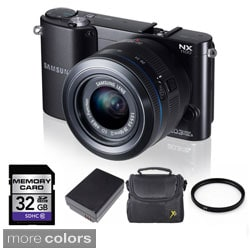 Samsung NX1100 Mirrorless Camera with 20-50mm Lens 32GB Bundle