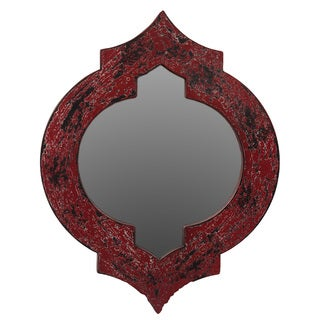 Urban Trends Collection Red Wooden Mirror