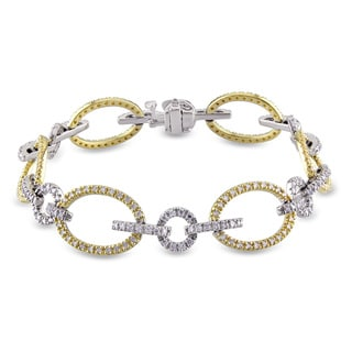 Miadora 14k Two-tone Gold 1 4/5ct TDW Diamond Bracelet (G-H, SI1-SI2)