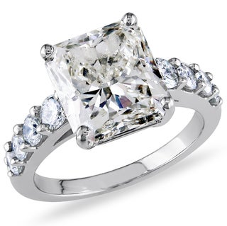 Miadora 18k Gold 5 3/4ct TDW Ceritified Radiant-Cut Diamond Ring (H-I, VS2-SI1) (IGI)