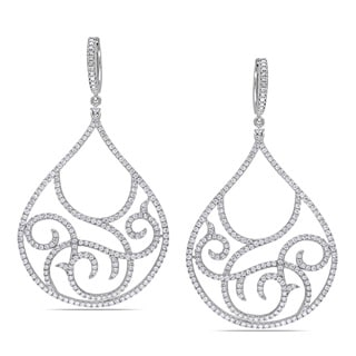 Miadora 14k White Gold 2ct TDW Diamond Earrings (G-H, SI1-SI2)