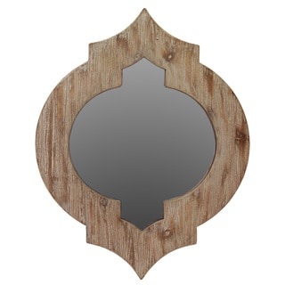 Urban Trends Collection Brown Wooden Mirror