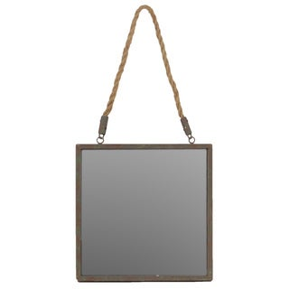 Urban Trends Collection Rope Hanging Metal Mirror