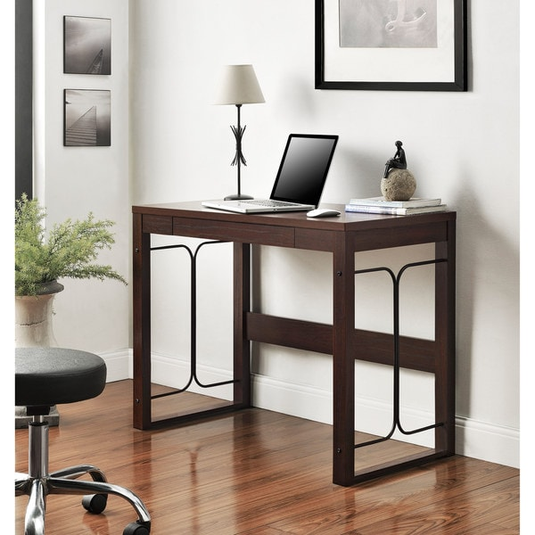 Parsons Desk/ Metal Accents