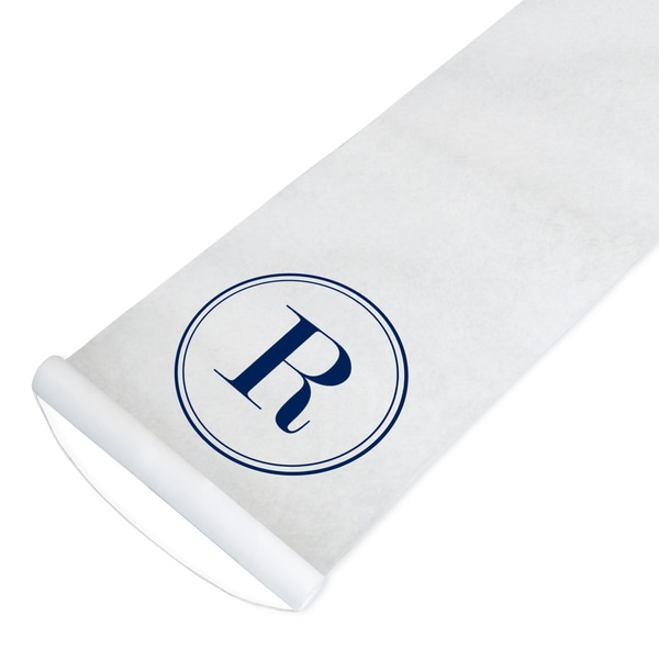 Cathy's Concepts Navy Circle Initial Personalized Aisle Runner