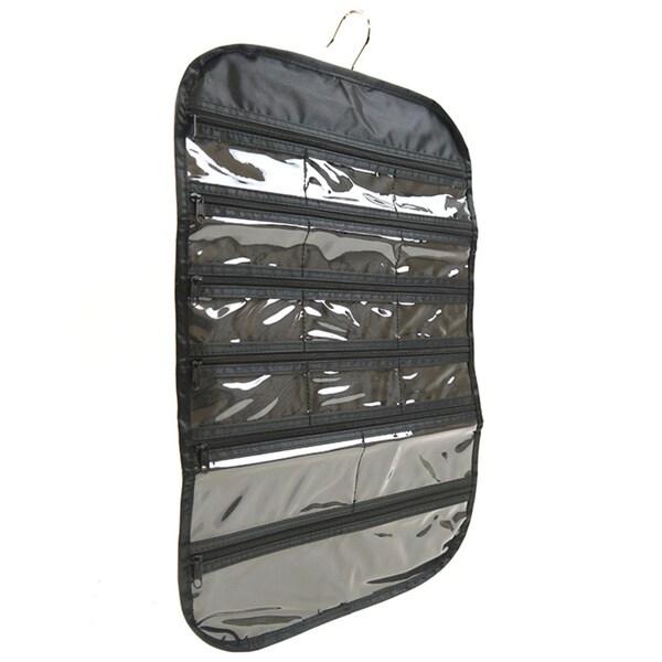 hanging jewelry organizer zippered storage holder display storage wall pouch ebay. Black Bedroom Furniture Sets. Home Design Ideas