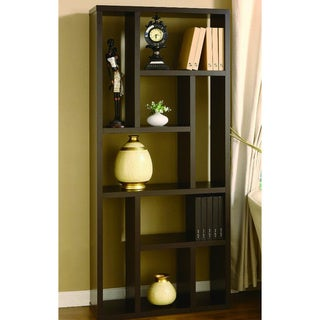 Santiago Mixed Shelves Brown Bookshelf
