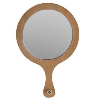 Wooden Handle Mirror