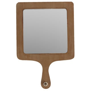 Square Wooden Mirror