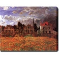 Claude Monet 'Garden at Argenteuil' Giclee Canvas Art