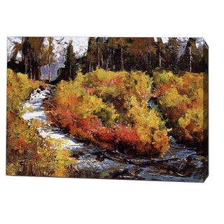 'Riverlet in Mountain' Canvas Print Art