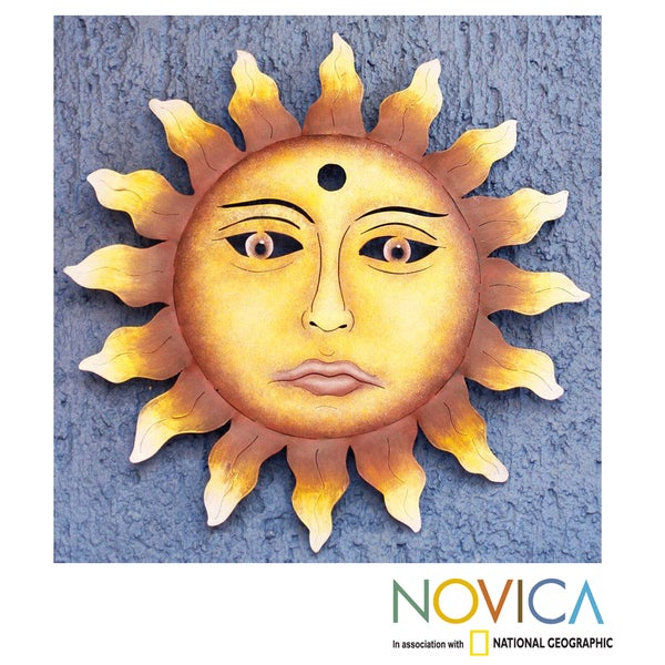 Handcrafted Steel 'Oaxaca Sun' Wall Art Sculpture (Mexico)
