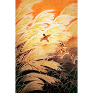 'Abstract Bird in Field' Canvas Print Art