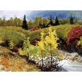 'Landscape Mountain Autumn' Canvas Print Art