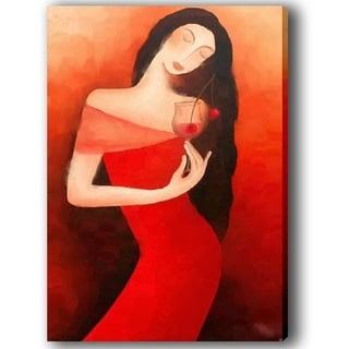 'Cocktail Lady' Canvas Art