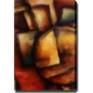 Abstract Modern 'Dark Colors' Canvas Art