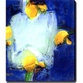 'Blue and Yellow' Giclee Canvas Art