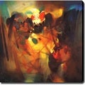 Abstract 'Music' Giclee Canvas Art