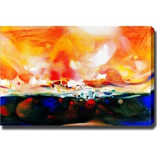 Abstract 'Sunshine' Giclee Canvas Art