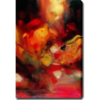 Abstract 'Fire Butterfly' Giclee Canvas Art