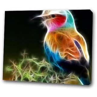'Colorful Bird' Giclee Canvas Art