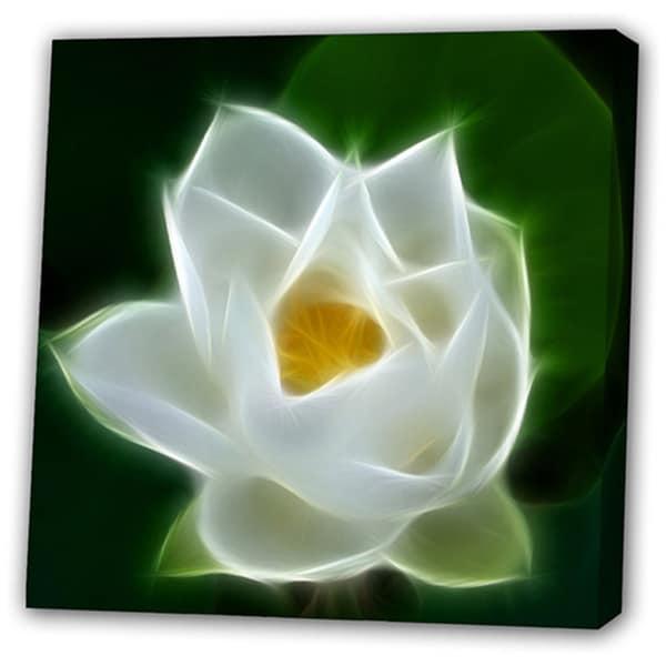 'White Big Flower' Giclee Canvas Art 11513539