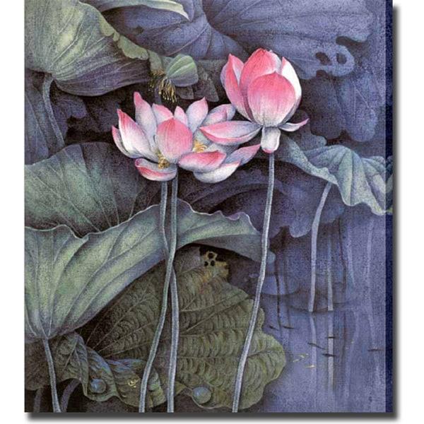 'Water Lilies' Giclee Canvas Art