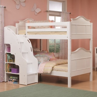 Bolton Emma Bunk Bed With Bookcase Stairs Overstock