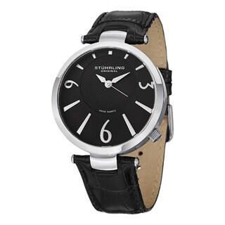 Stuhrling Original Men's Surmount Swiss Quartz Leather Strap Watch